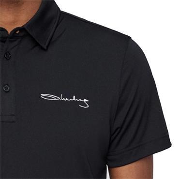 J.Lindeberg Gents Signature Reg Fit KV TX Polo Shirt Black