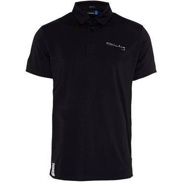 J.Lindeberg Gents Signature Reg Fit KV TX Polo Shirt Black