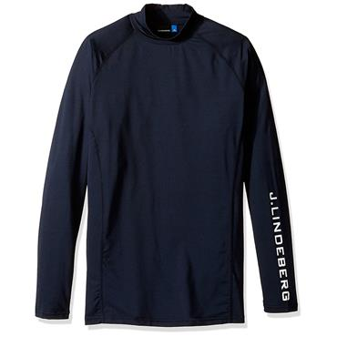 J.Lindeberg Gents Aello Soft Compression Sports Top Navy