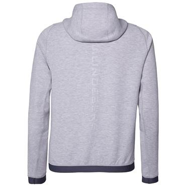 J.Lindeberg Gents Athletic Tech Sweat Hoodie Jacket Stone Grey Melange