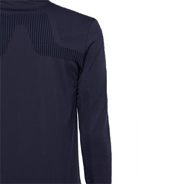 J.Lindeberg Gents Fin Seamless Mid KV Sweat Jacket Blue - Navy