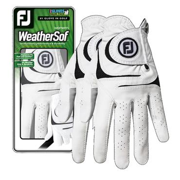 FootJoy Ladies Weathersof 2 pack Left Hand Gloves White