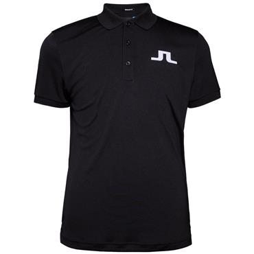 J.Lindeberg Gents Big Bridge TX Polo Shirt Black