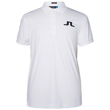 J.Lindeberg Gents Big Bridge TX Polo Shirt White