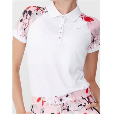 Rohnisch Ladies Leaf Block Polo Shirt Pink