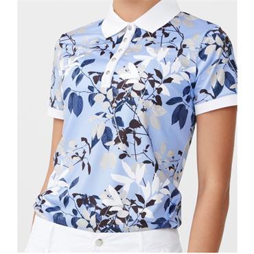 Rohnisch Ladies Leaf Polo Shirt Blue