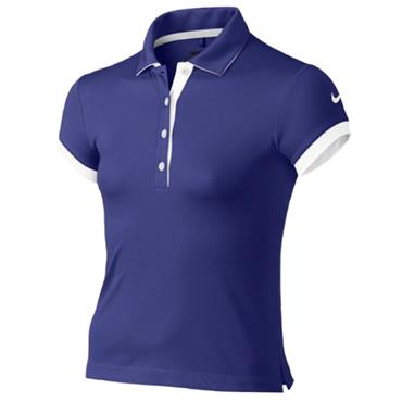Nike Junior - Girls Victory Polo Shirt Purple - White