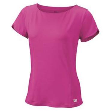Wilson Ladies Star Crossover Cap Sleeve Tennis Top Rose Violet