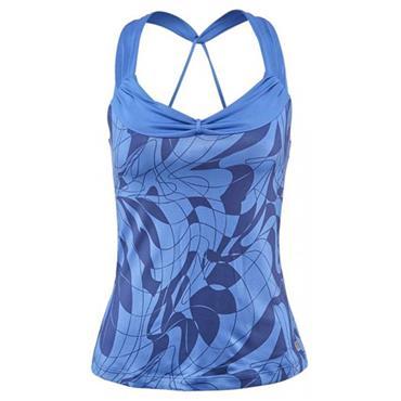 Wilson Ladies Art Athletic Tennis Top Regatta Blue