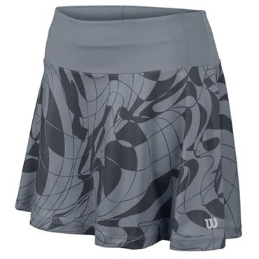"Wilson Ladies Spring Art 13.5"" Tennis Skirt Grey Trade Winds"