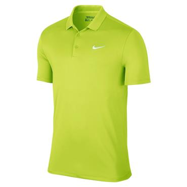Nike Gents Dry LC Victory Solid Polo Shirt Lime