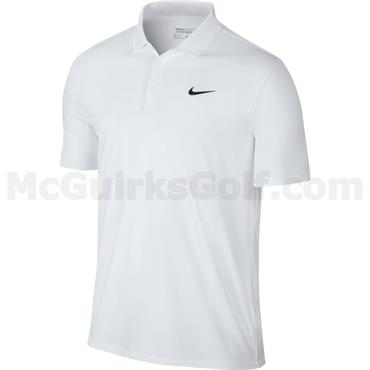Nike Gents Dry LC Victory Solid Polo Shirt White
