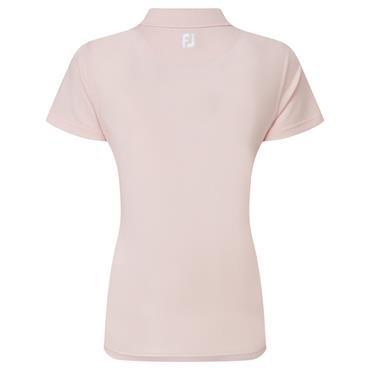 FootJoy Ladies Solid Stretch Pique Polo Shirt Blush Pink