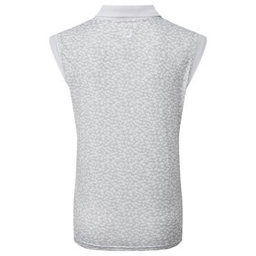 FootJoy Ladies Cap Sleeve Print Top White