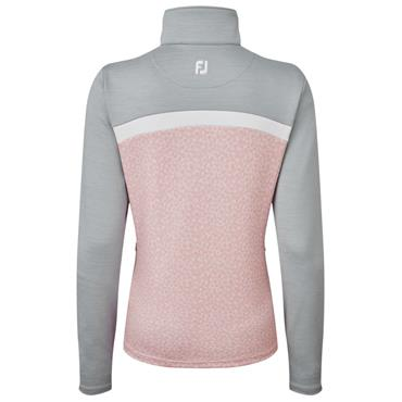 FootJoy Ladies Full Zip Chill Out Top Grey - White - Pink