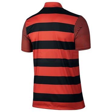 Nike Gents Bold Stripe Polo Shirt Orange