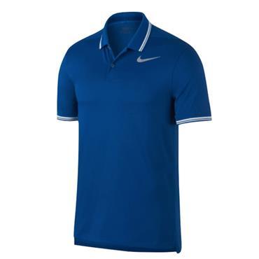 Nike Gents Dry Slim Tipped Polo Shirt Blue Jay
