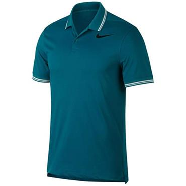 Nike Gents Dry Slim Tipped Polo Shirt Blustery Heather