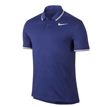 Nike Gents Dry Slim Tipped Polo Shirt Deep Night Blue