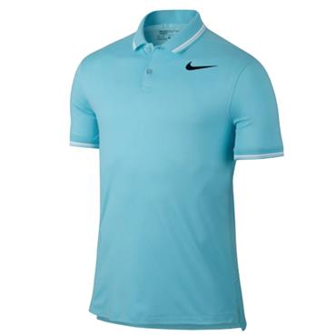Nike Gents Dry Slim Tipped Polo Shirt Sky