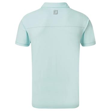 FootJoy Gents Solid Pique With Spine Stitch Polo Shirt Ice Blue - Grey