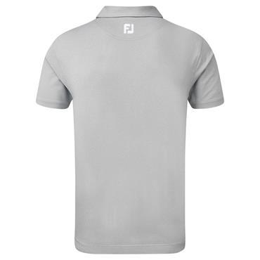 FootJoy Gents Lisle Engineered Chestband Polo Shirt Heather Grey - Lime
