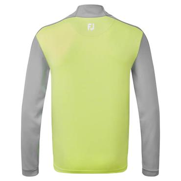 FootJoy Gents Heather Chill-Out Top Grey - Heather Lime