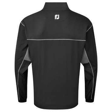 FootJoy Gents Full Zip Windshirt Black - Charcoal