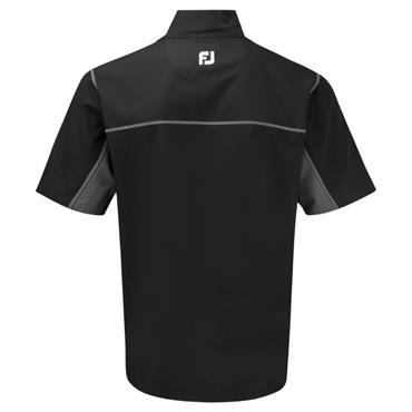 FootJoy Gents ½ Zip Short Sleeve Windshirt Black - Charcoal