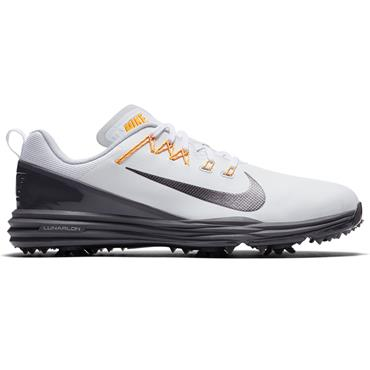 Nike Gents Lunar Command 2 Golf Shoes White - Grey