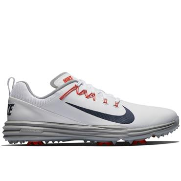 Nike Gents Lunar Command 2 Golf Shoes White - Blue - Coral