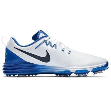 Nike Gents Lunar Command 2 Golf Shoes White - Blue
