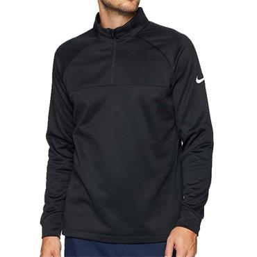 Nike Gents Therma 1/2 Zip Top Black - White