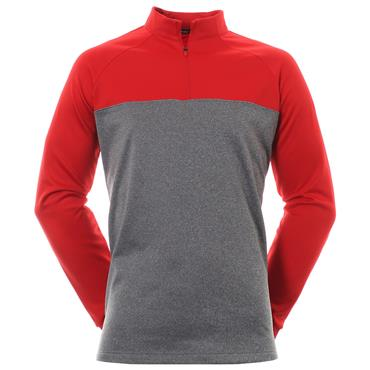 Nike Gents Therma 1/2 Zip Top Red