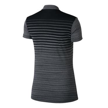 Nike Ladies Zonal Cooling Print Polo Black - Silver