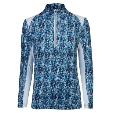 Daily Sports Ladies Alicia Long Sleeve Half Neck Pullover Steel Blue