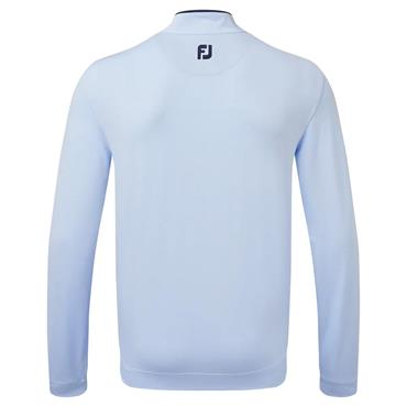 FootJoy Gents Lightweight Microstripe Chill-Out Pullover Sky - White - Navy