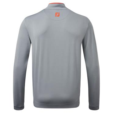 FootJoy Gents Lightweight Microstripe Chill-Out Pullover Smoke - Grey - Chilli