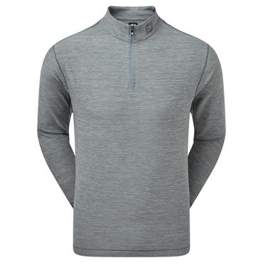 FootJoy Gents Space Dye Brushed Back Chill-Out Pullover Smoke