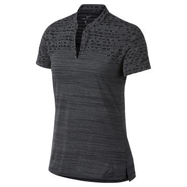 Nike Ladies Zonal Cooling Jacquard Polo Shirt Black