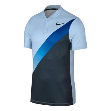 Nike Gents Dry Momentum Slim Fit Golf Polo Shirt Blue
