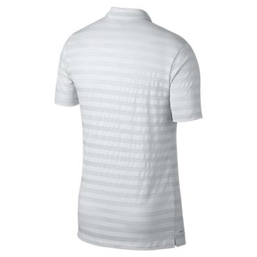 Nike Gents Dry Stripe Polo Shirt White