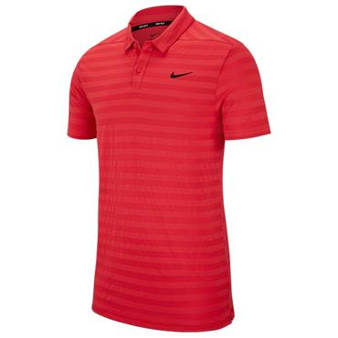 Nike Gents Dry Stripe Polo Shirt Pink