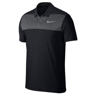 Nike Gents Dry Colour Block Polo Shirt Black
