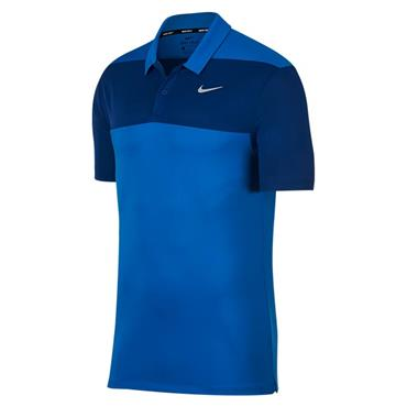 Nike Gents Dry Colour Block Polo Shirt Blue