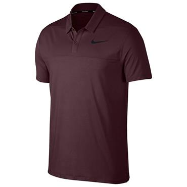Nike Gents Dry Colour Block Polo Shirt Burgundy