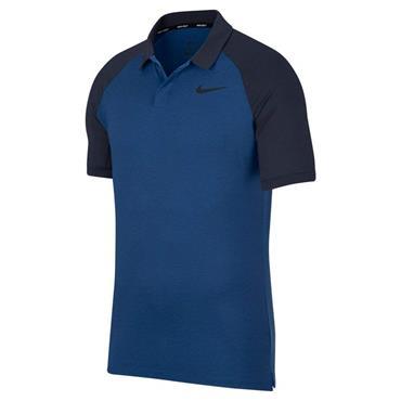 Nike Gents Dry Raglan Polo Shirt Blue