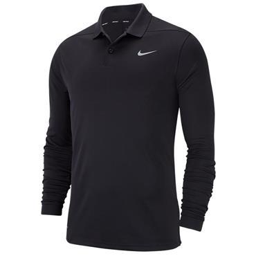 Nike Gents Victory Long Sleeve Polo Shirt Black