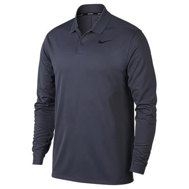 Nike Gents Victory Long Sleeve Polo Shirt Light Carbon - Black