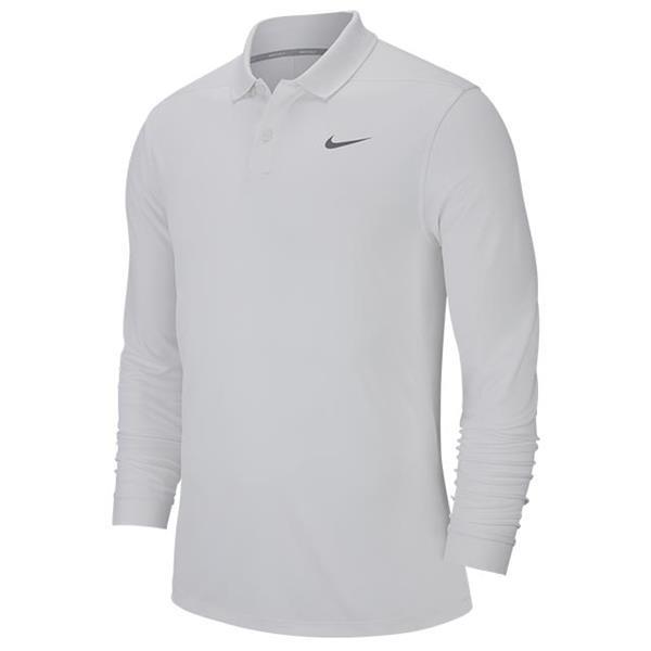 cd6802756 Nike Gents Victory Long Sleeve Polo Shirt White